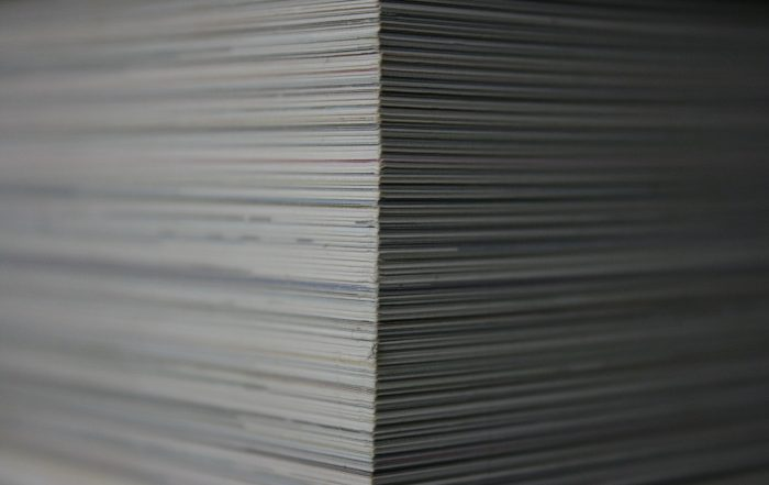 stack of paperwork closeup
